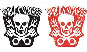 skull and piston tattoos illustration of skull and crossed pistons with flames and the