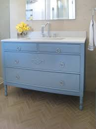 light blue bathroom storage cabinet with marble top for yellow