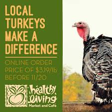 buying local turkeys for thanksgiving with healthy living