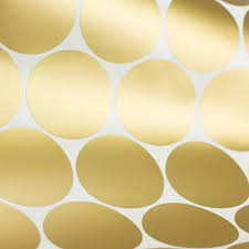 c053 gold wall decal dots easy peel stick round circle art glitter