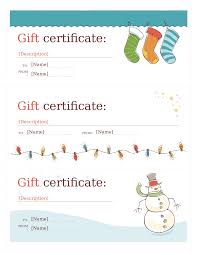 gift certificate template free printable certificates gift certificate template