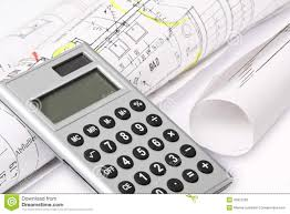 Building Plans by Calculator Building Plans Stock Photo Image 43972769