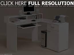 white corner desk with storage muallimce