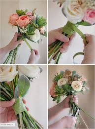 how to make a faux flower bridal bouquet wraps floral and