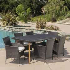 Patio Furniture Dining Set Six Person Patio Dining Sets You Ll Wayfair