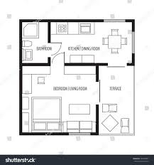 vector flat projection apartment small house stock vector