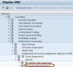 Sap Material Master Tables by To Assign Materials To Profit Center In Sap