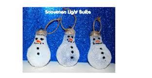 snowman light bulb ornament allfreechristmascrafts