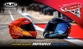cars 3 hjc rpha 11 cars 3 helmets pay tribute to pixar u0027s newest movie