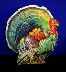 vintage dennison thanksgiving fall diecuts horn of plenty tom