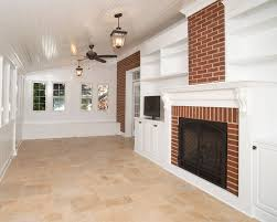 flooring rectangular travertine tile cottage living room