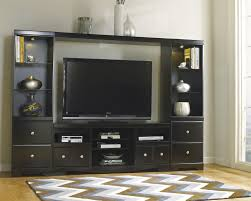 Tv Stand With Fireplace Shay Corner Tv Stand With Fireplace Option In Black W271 12