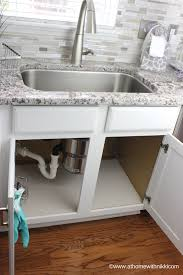 Under The Kitchen Sink Organization by At Home With Nikki How To Organize Under The Kitchen Sink
