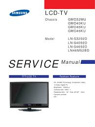service manual ln s4692d lns4692d chassis gm046ku