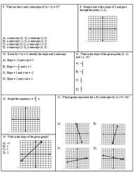 slope intercepts and graphing linear equations exam by mrs math