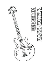 large guitar coloring page bass coloring pages bass coloring pages bass fish coloring pages