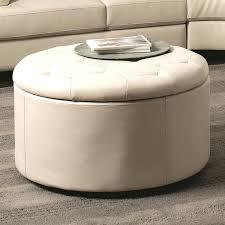 ottoman small round storage ottoman leather coffee table tray