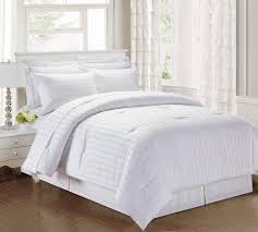 Comforter Thread Count 3 Piece Damask Stripe 500 Thread Count Cotton Comforter Set Charcoal