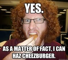 Meme Cheezburger - yes as a matter of fact i can haz cheezburger anti meme trey