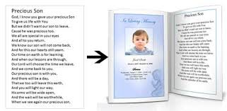 baby funeral program funeral poems for children child kids memorial poem for baby