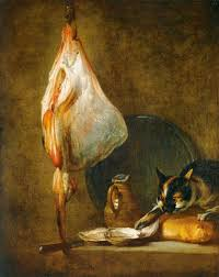 still life with cat and rayfish u2014 jean baptiste simeon chardin