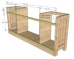Free Wood Cabinets Plans by Ana White Planked Wood Sideboard Diy Projects