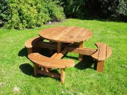 Commercial Picnic Tables And Benches Round Picnic Table Heavy Duty Commercial Pub Type Bench Trade