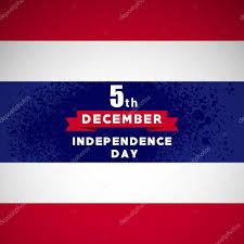 Thai Flag Thailand Independence Day Greeting Card Thai 5th December