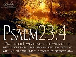 comforting verses for death know you are never walking alone god is walking right beside