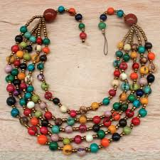coloured beads necklace images Every color beaded necklace with acai seed and matching beaded JPG