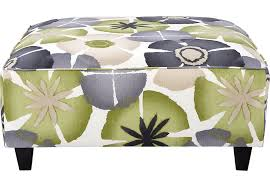 Green Ottoman Lilith Pond Taupe Accent Cocktail Ottoman Cocktail Ottomans Beige