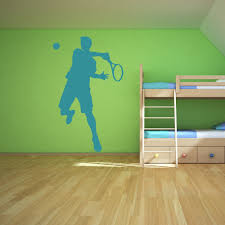 tennis player hitting ball match tennis wall stickers gym sport