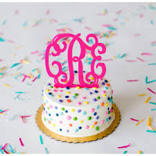 cake monograms acrylic monogram or initial cake topper