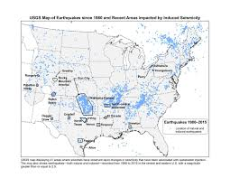 Map Of The United States Capitals by Induced Earthquakes Raise Chances Of Damaging Shaking In 2016