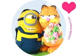 minion wedding cake topper minion cake topper garfield cake topper despicable me cake