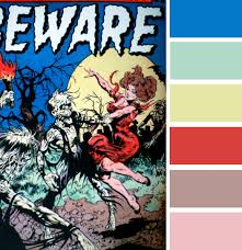 comic book color color palette of horror comics of the 50 5 colour palettes