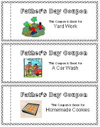 printable father u0027s day coupon book all kids network