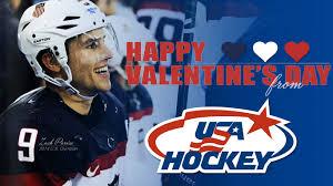 hockey valentines cards be my valentines from usa hockey