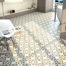 Vinyl Floor Covering Tiles Geometric Patterned Vinyl Floor Tiles York Beige Patterned