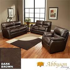 sofa loveseat and chair set costco brentwood 3 piece top grain leather set sofa loveseat and