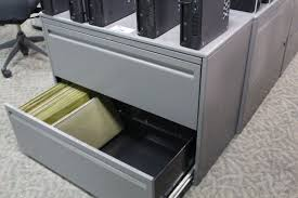 2 Drawer Lateral Filing Cabinet by Haworth Premise Charcoal Grey 2 Drawer Lateral File Cabinet