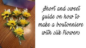 How To Make Boutonnieres Short And Sweet Guide On How To Make A Boutonniere U2013 The Crafty Gamers