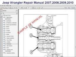 jeep wrangler repair manual 2007 2008 2009 2010