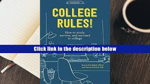free download college rules 4th edition how to study survive