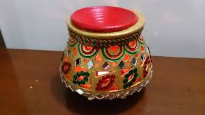 Diwali Decoration Tips And Ideas For Home Pots Mud Pot Decoration Photo Home Pot Beautiful Pot Clay Pot