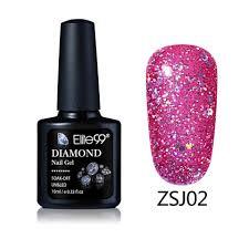 elite99 new arrival uv gel nail manicure 10ml diamond glitter uv