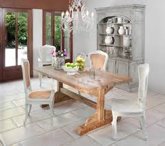 trestle table design dining room beach style with white blinds
