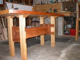 recycled wood workbench