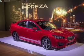 red subaru sedan here u0027s the 2017 subaru impreza sedan new images