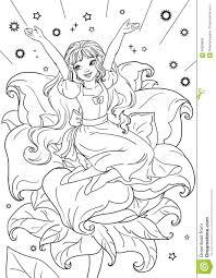 thumbelina flower stock illustration image isolated